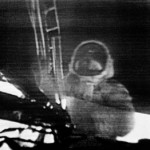 1969 - The Iconic first Images from the surface of the moon. Neil in the TV feed camera mounted on the LEM.